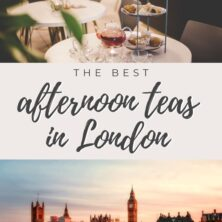 the best afternoon teas in london pinterest cover